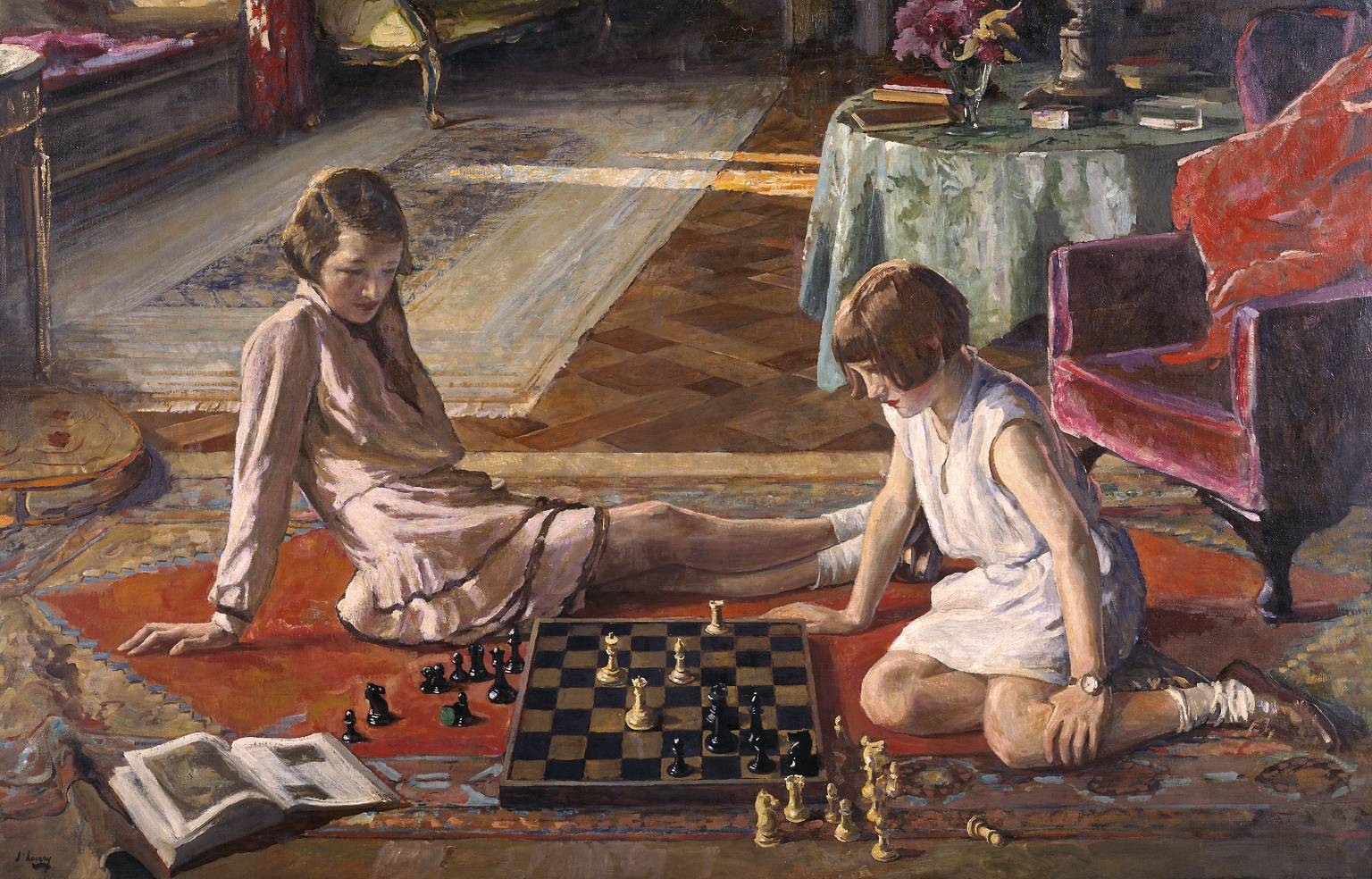 The chess players, 1929